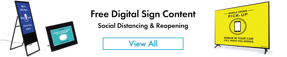 Free downloadable content for digital signs