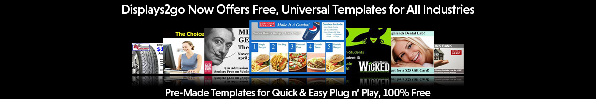 Free Digital Signage Templates