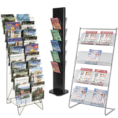 Freestanding Metal Magazine Racks