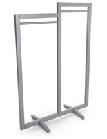 Modern Gray Box Frame Clothing Hanger Stands