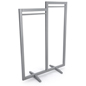 "60"" Tall Box Frame Clothing Hanger Stands"