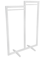 Open concept modern cottage double carry clothing rack