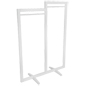Minimalist modern cottage double carry clothing rack