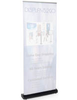 Black Vertical Retractable Banner
