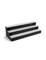 36-inch wide tiered LED bar shelf displays