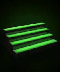 led illuminated bar shelving