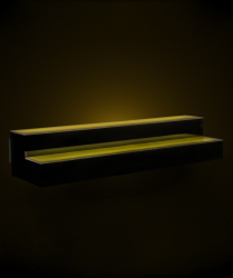led illuminated liquor shelves