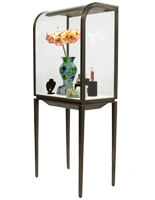 Contemporary Curved Front Jewelry Display Cabinet
