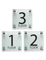 "Floor Number Signs, 1"" Overall Depth"
