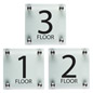 Floor Number Signs, Weighs 3 lbs