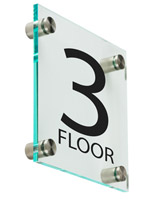 "Acrylic Floor Level Sign, 6"" Overall Height"