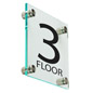 "Acrylic Floor Level Sign, 1"" Overall Depth"
