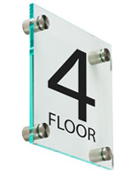 Floor Level Building Sign, Weighs 1 lb