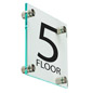 Office Floor Number Sign, Weighs 1 lb