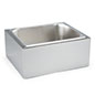 Countertop ice bin with steel housing