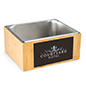 Personalized bamboo ice pan with stainless steel tray