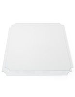 18 x 24  acrylic shelf covers with curved corners for easy placement