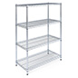 Free standing wire shelving is NSF certified