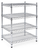 Metal wire shelving unit with industrial grade chrome material