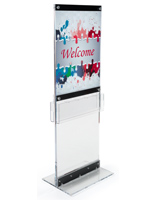 Custom Acrylic Display with Pockets for Advertisements