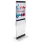 Custom Acrylic Display with Pockets in Large Format Floorstanding Fixture