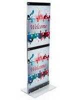 Custom Graphic Print with Pylon for Advertising