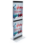 Custom Graphic with Brochure Holders and Clear Floor Stand