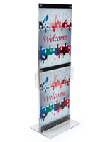 Custom Graphic with Brochure Holders for Floor Standing Advertisements