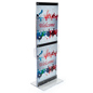 Custom Graphic with Brochure Holders on Double Sided Stand
