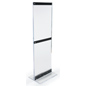 Floor-Standing Acrylic Graphic Holder Holds 1 or 2 Posters