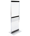 Acrylic Display Totem with Brochure Holder for Promotions