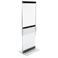 Over-Sized Floor Standing Acrylic Display Totem with Brochure Holder