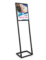 16x20 SEG push fit sign stand custom printed fabric poster with floor standing frame