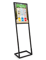 Floor standing 18x24 silicone edge sign display with custom printed front tension fabric