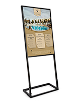 24x36 SEG fabric poster display with custom printed push fit graphic on metal frame