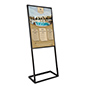24x36 SEG fabric poster display with dye-sublimation printing on front panel