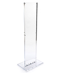Weighted indoor acrylic floor sign totem display
