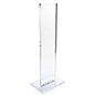 Indoor acrylic floor sign totem display for double-sided use