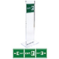 Floor standing indoor acrylic totem exit sign set