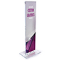 Indoor acrylic custom floor totem stand with insert graphic