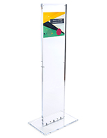 Weighted indoor acrylic custom floor totem sign