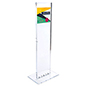 "Indoor acrylic custom floor totem sign with 10.5"" x 9"" print area"