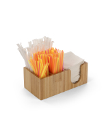10.6w x 4.25h wood bar caddy accessory organizer
