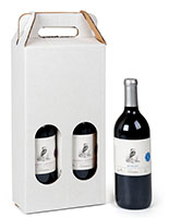 2 bottle cardboard wine carry box with 3.30 lb weight capacity