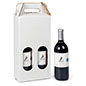 2 bottle cardboard wine carry box with 16.5 inch overall height