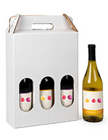 3 bottle cardboard wine carrier with partitions