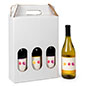 3 bottle cardboard wine carrier with 4.95lb weight capacity