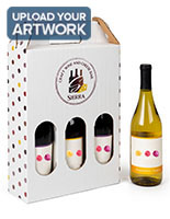 Personalized cardboard wine bottle carrier with full color printing