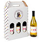 Personalized cardboard wine bottle carrier with 4.95lb weight capacity