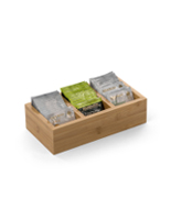 9.5w x 2.5h condiment packet dispenser with natural finish